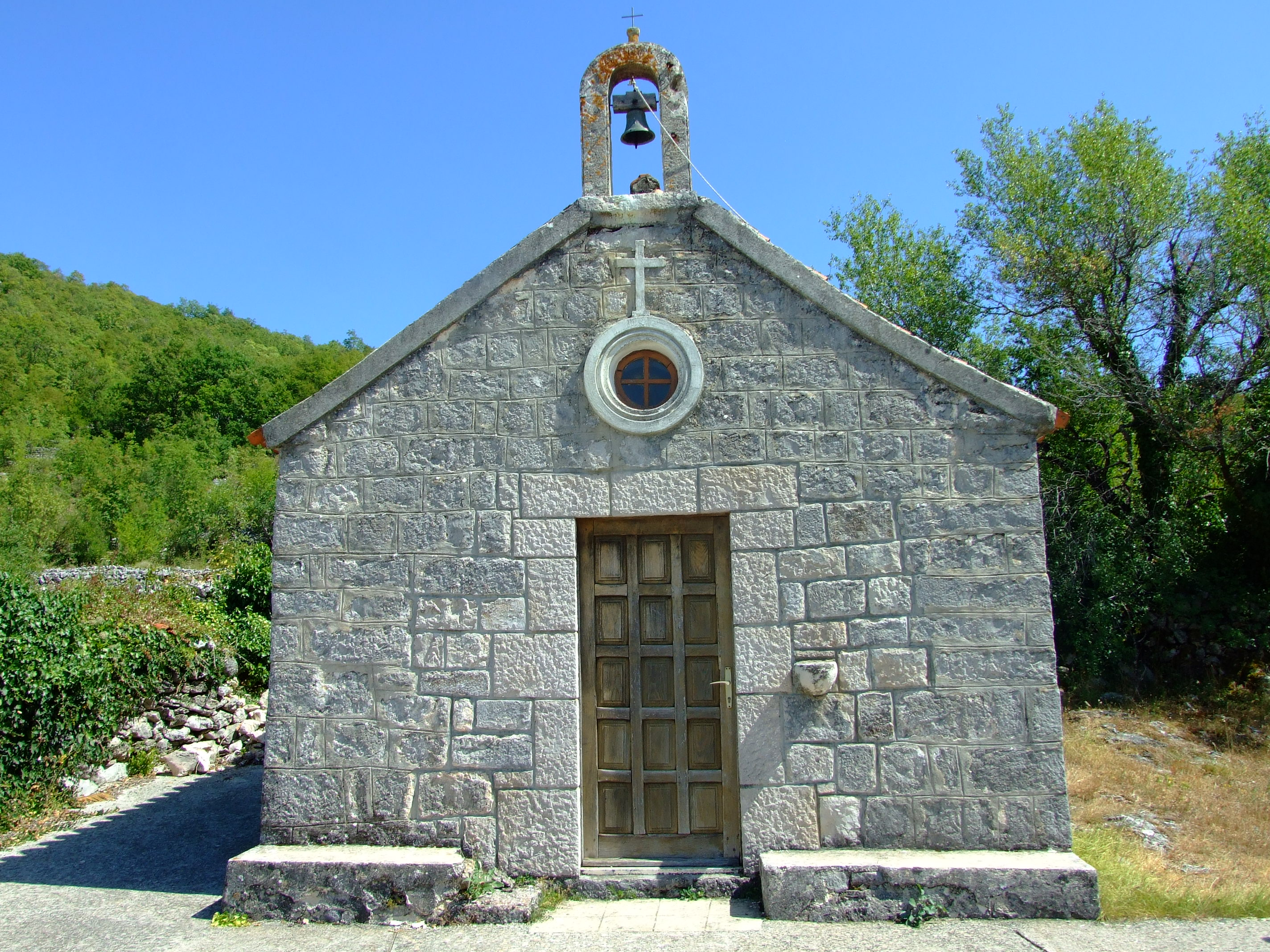 The front of the 16th century St. Luke's church (Crkva Sv. Luka)