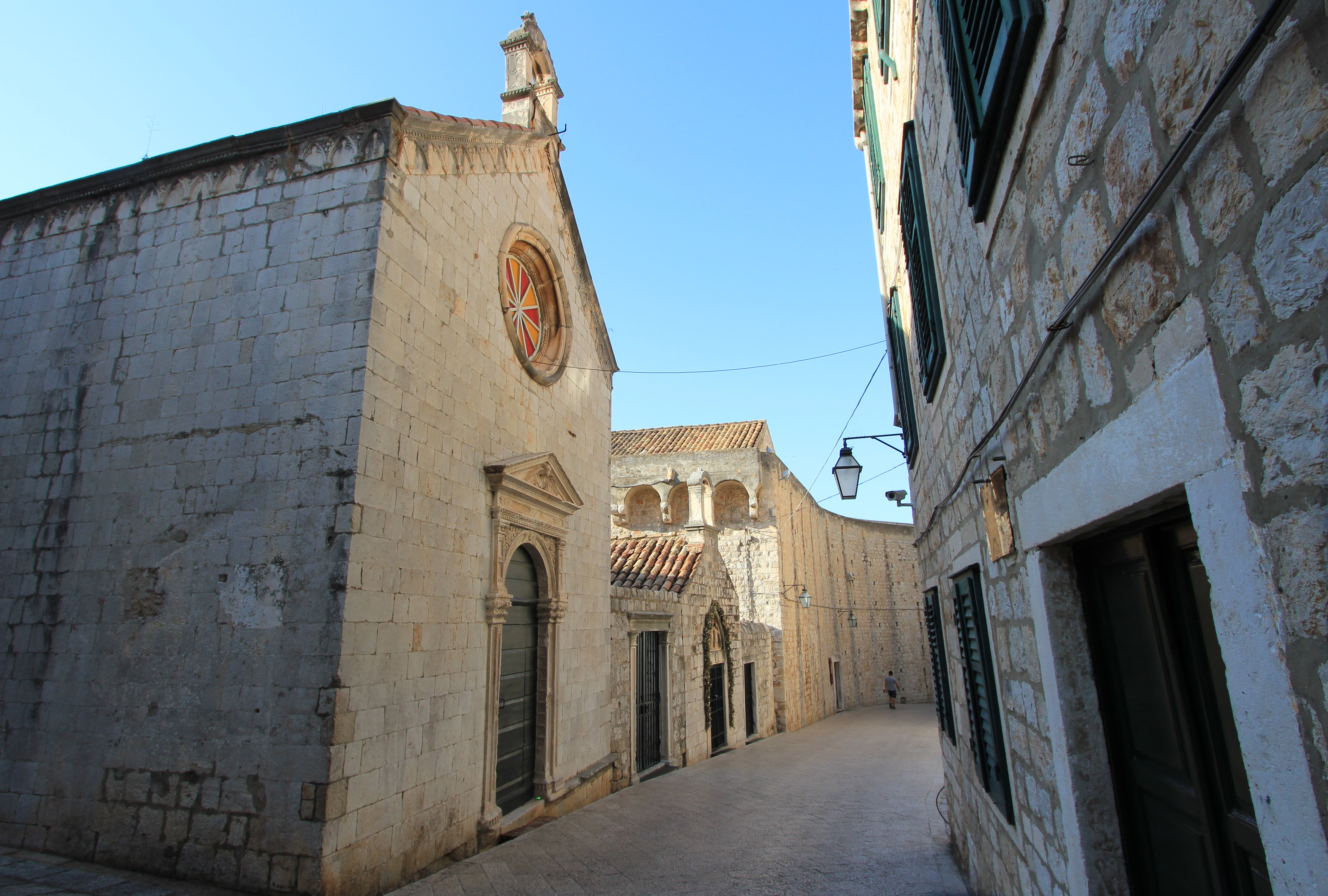 Into the Old City of Dubrovnik. The Chapels of Announcement and of St. Luke on Ul. Svetog Dominika.