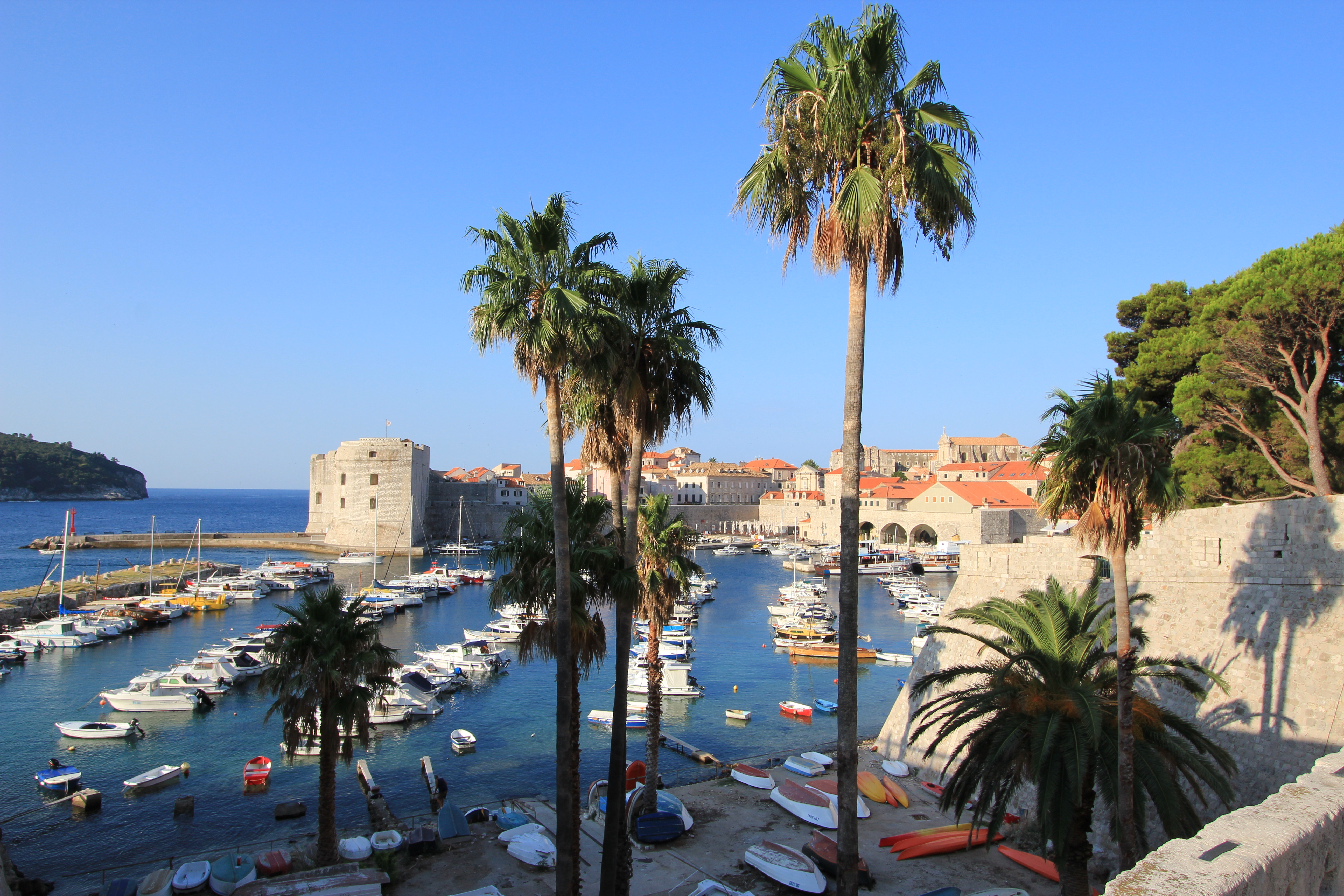 About 07:30 AM in Dubrovnik