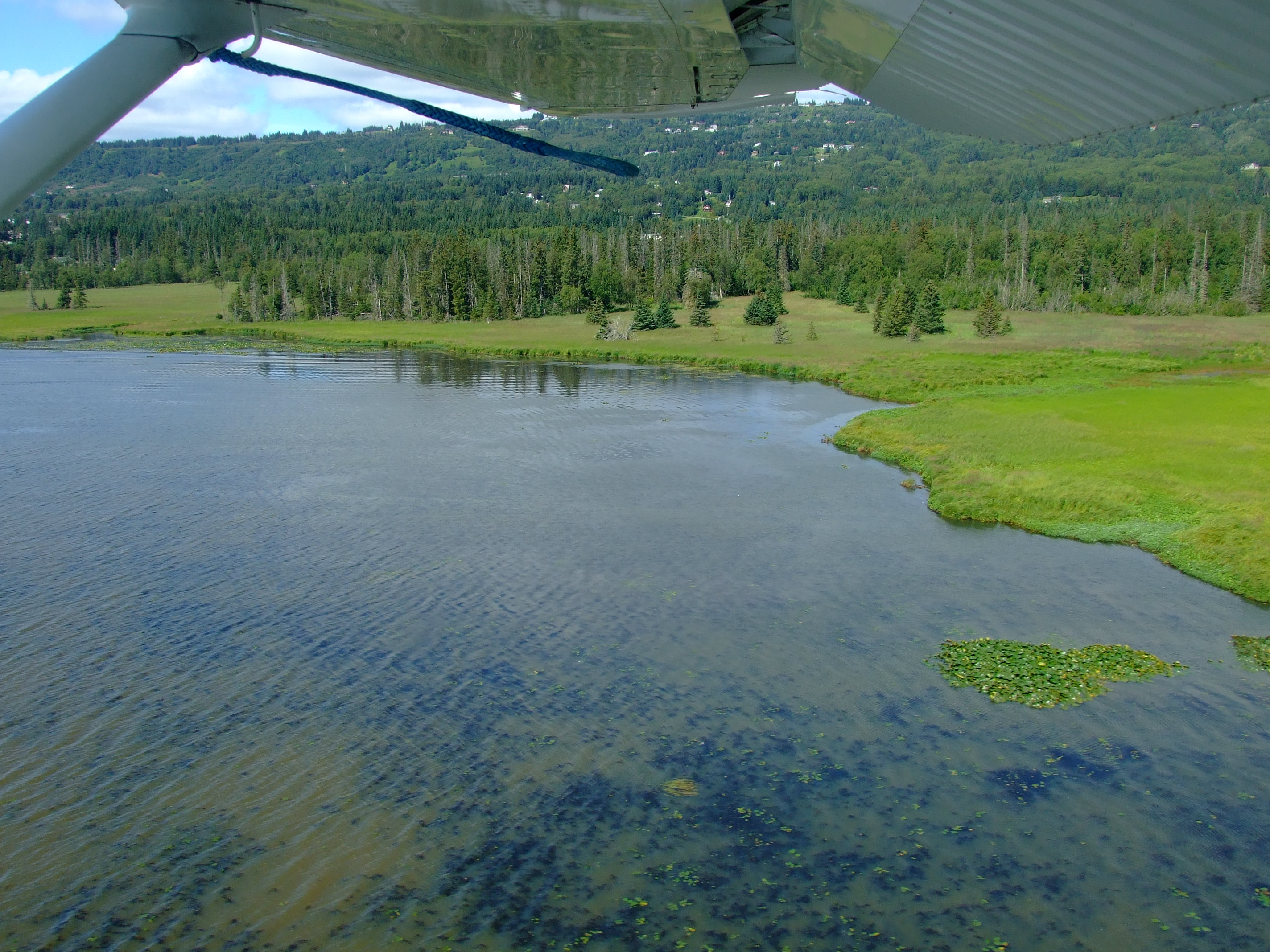 Our final descent onto Beluga Lake in the opposite direction to our take off.