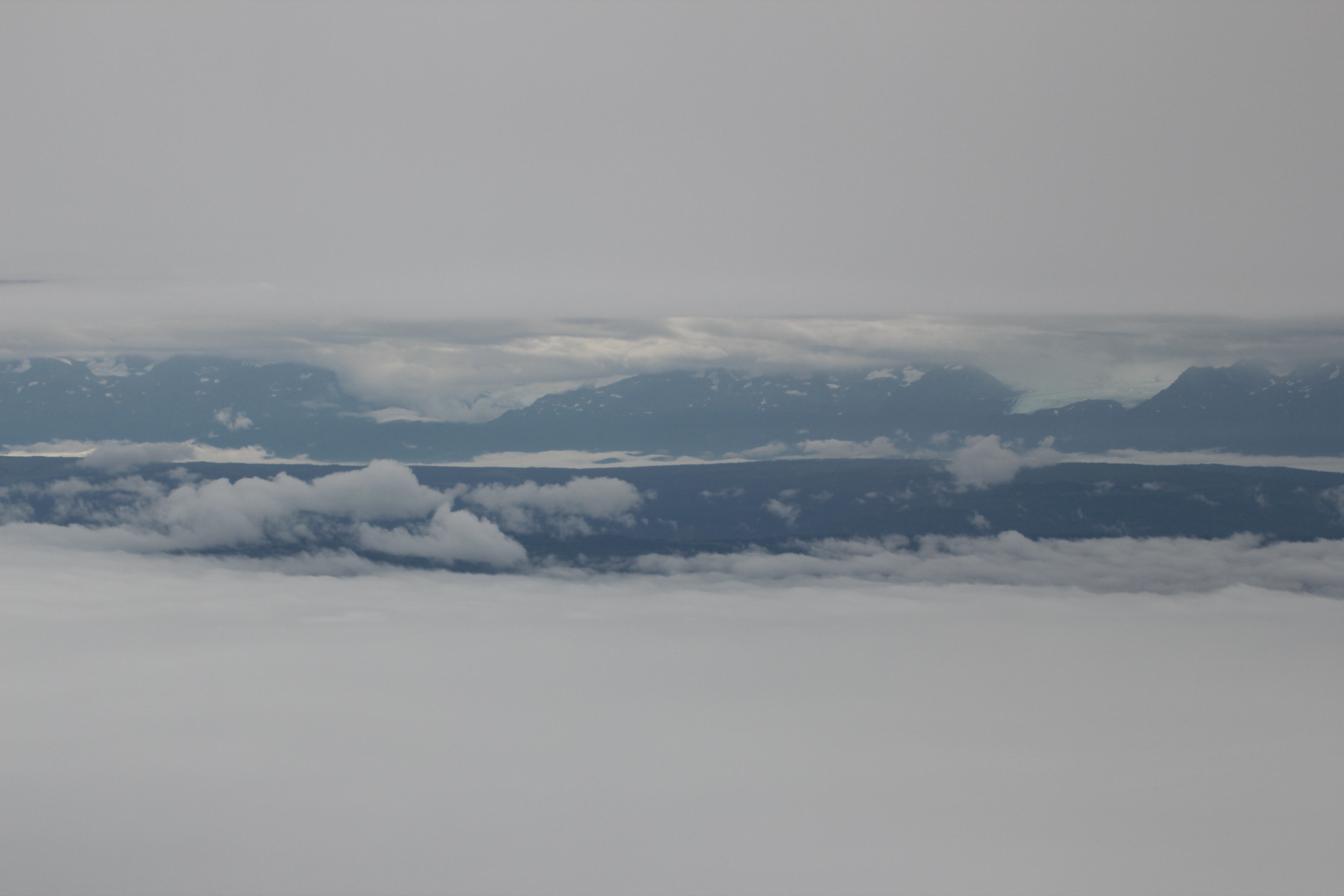 No photo editing required. This is how it looked as we returned towards the Kenai Peninsula.