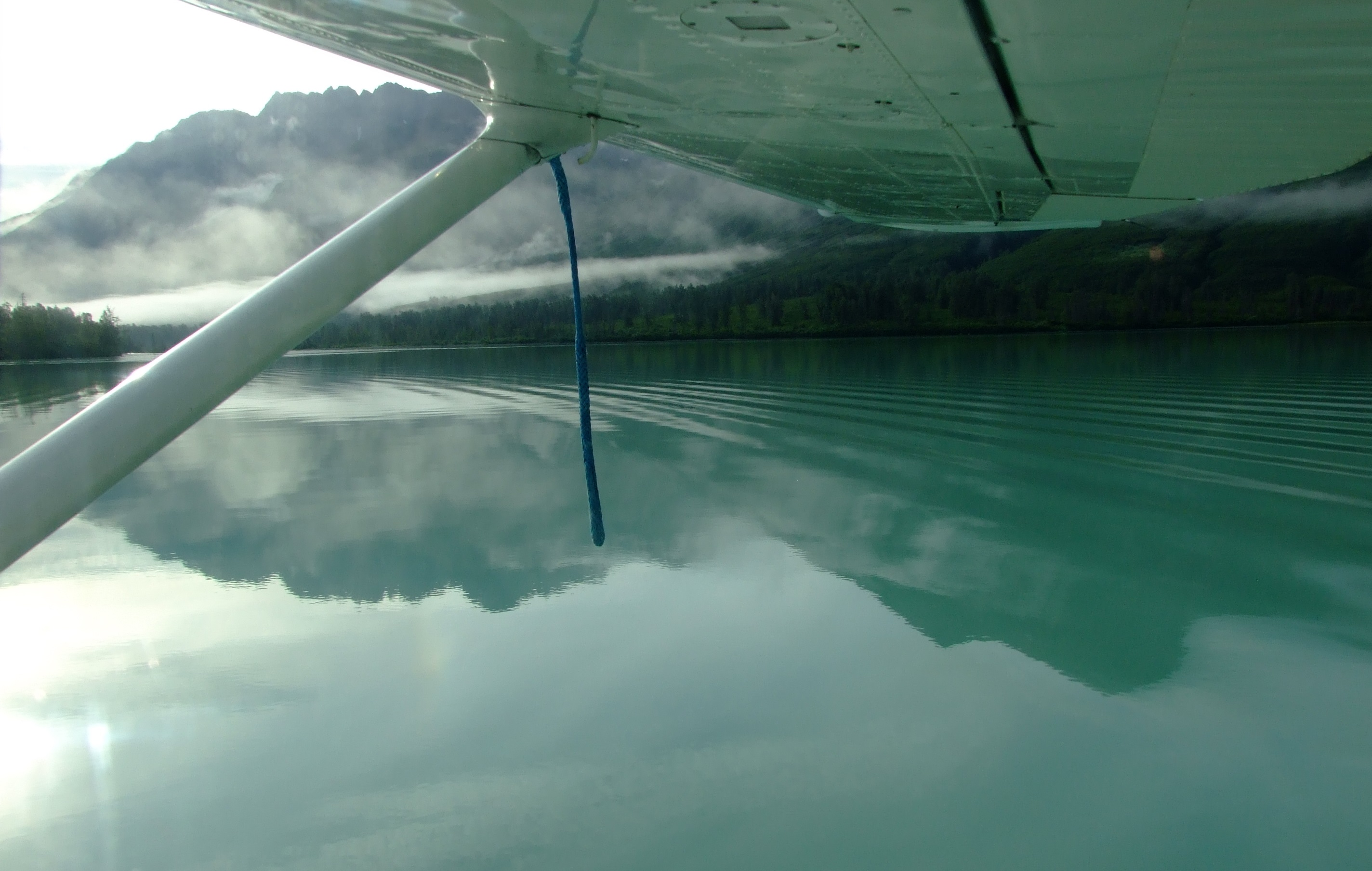 From the surface of the lake there is a greener or more turquoise hue to the water. Our landing was like all our landings with Steller Air. Smooth.