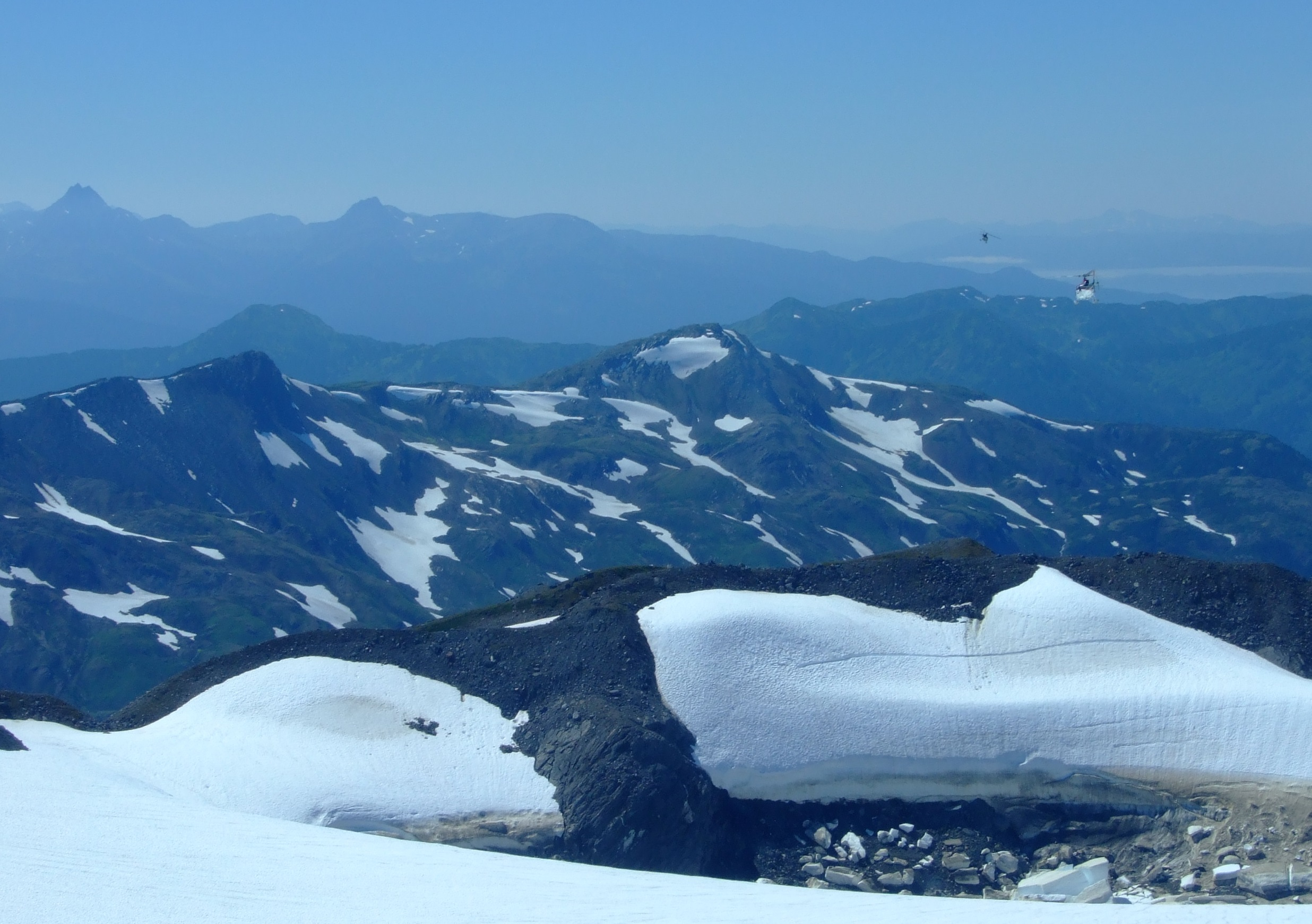 Flying out of the Juneau Icefield.