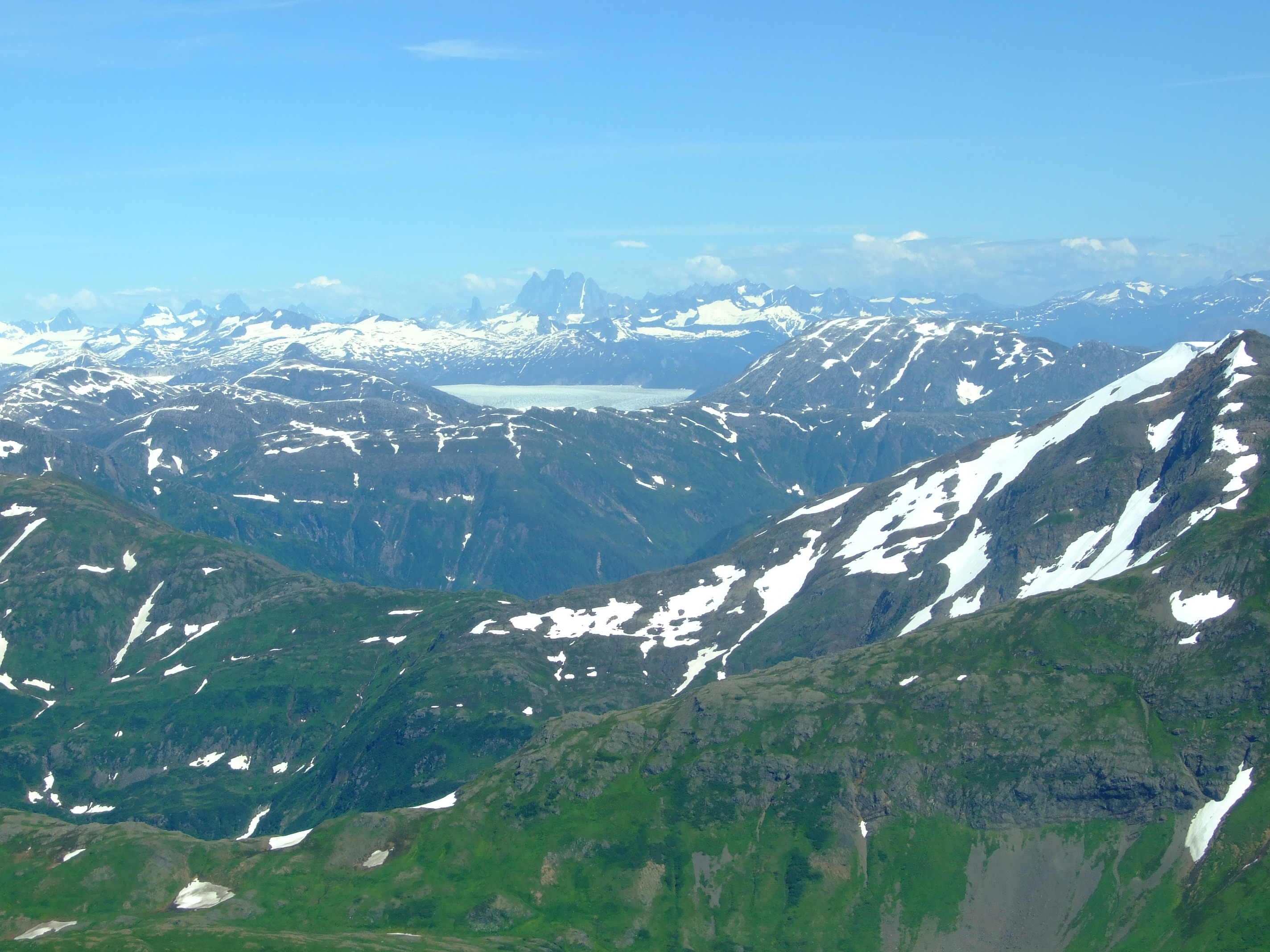 That's not a lake just above the centre of the image. Welcome to the wild Juneau Icefield.