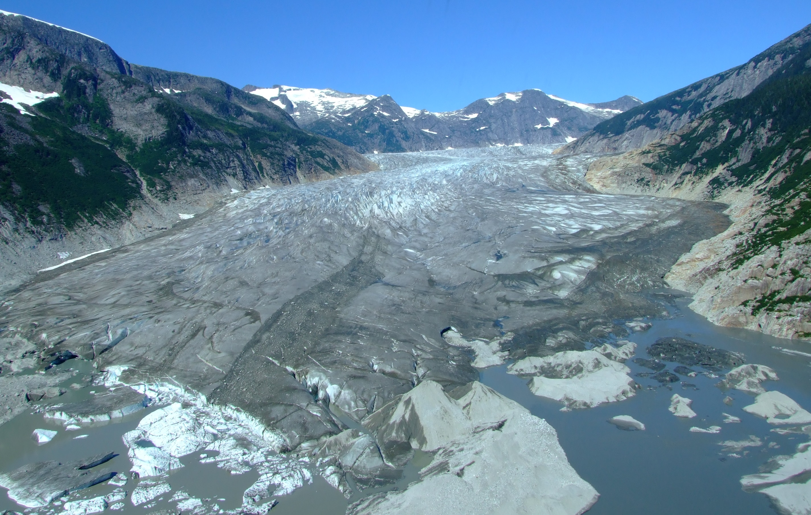 The terminus of the Norris Glacier. Go while it's there to be seen.
