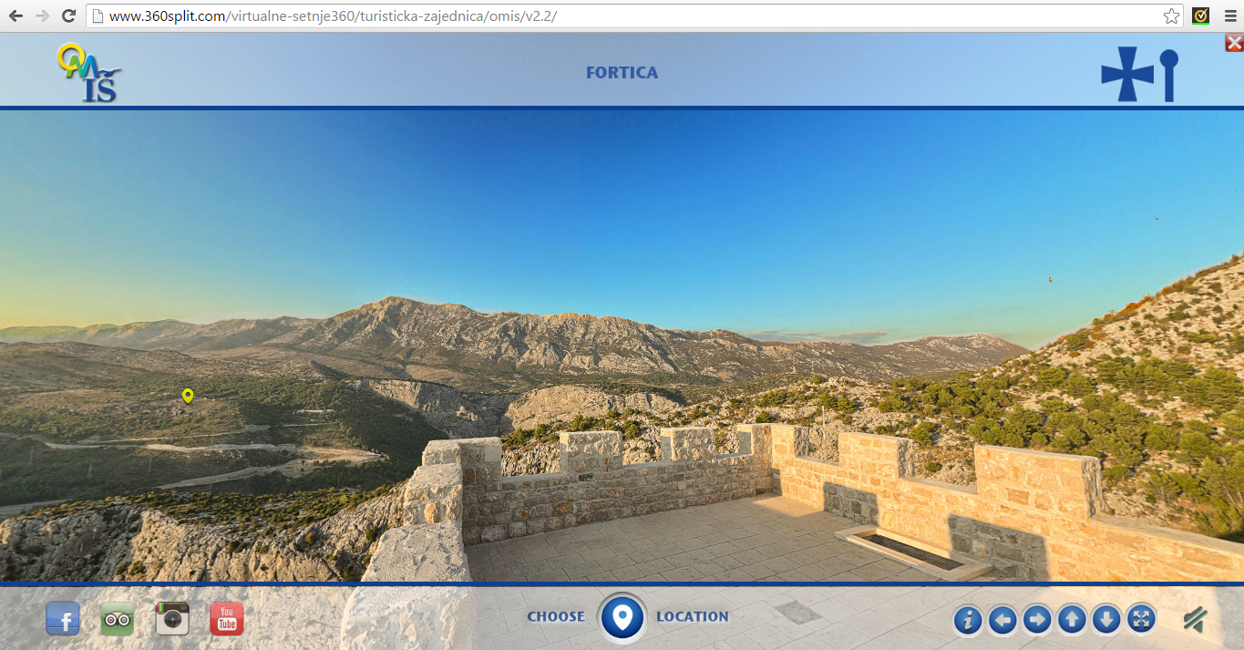 To get a first visual impression of the area from a number of different locations there is an excellent 360° interactive viewer on the Visit Omiš website (available in Croatian, Czech, English, German, Polish and Slovenian).