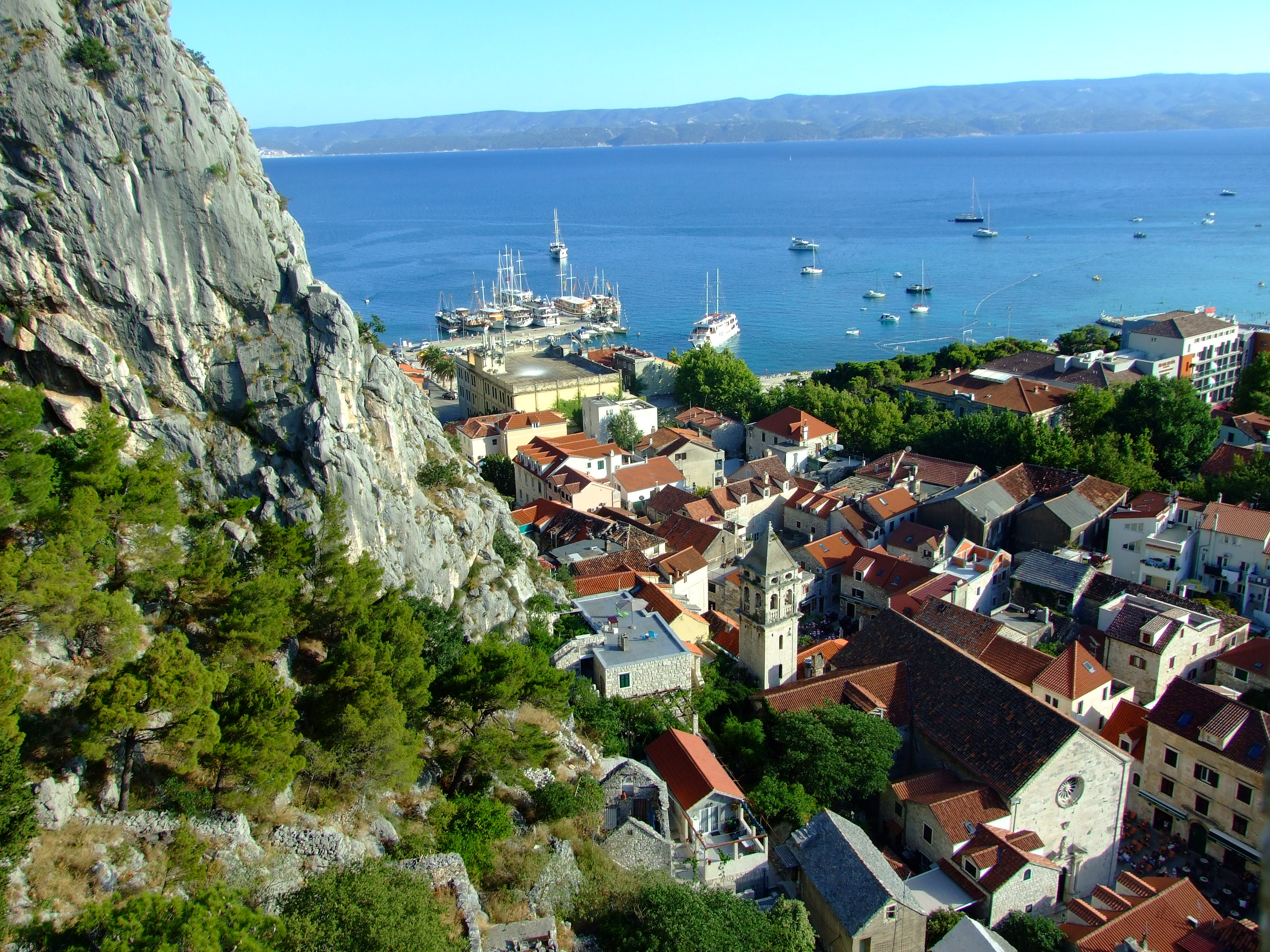 Still looking south over Omiš old town from slightly higher levels of the Utvrda PeovicaMirabela Fortress.