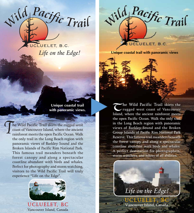 Before starting up the Lighthouse Loop I picked up a copy of the then current 2008 printed map of the Wild Pacific Trail (left above), which is still available online here, but development has been rapid, and I don't expect that it will be long before the 2013 edition (right above) is upgraded too. You can get the most recent map from the online Wild Pacific Trail website, and there are more links for further information about the trail at the end of the post.