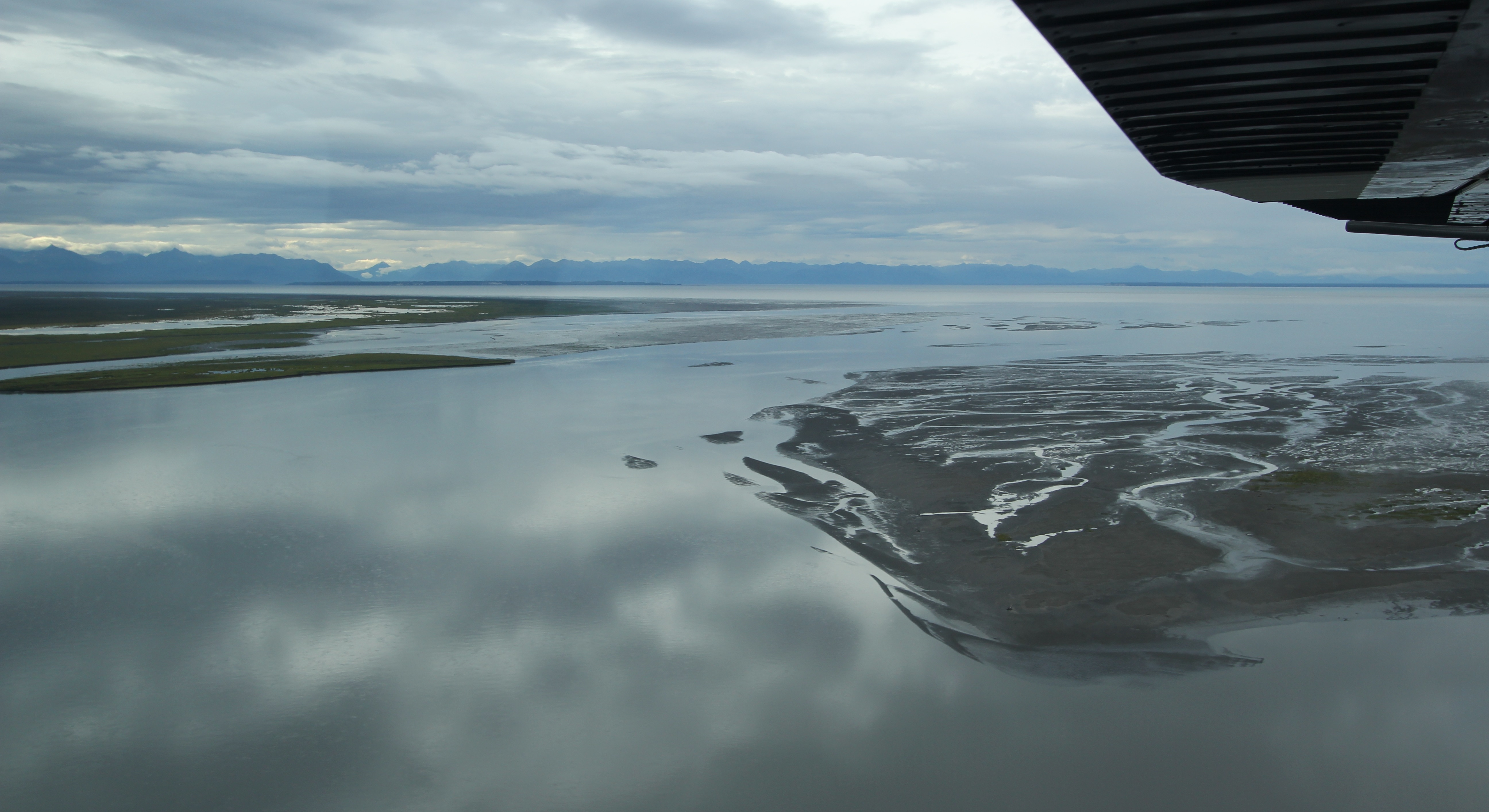 At the mouth of the Susitna River as it flows into Cook Inlet.