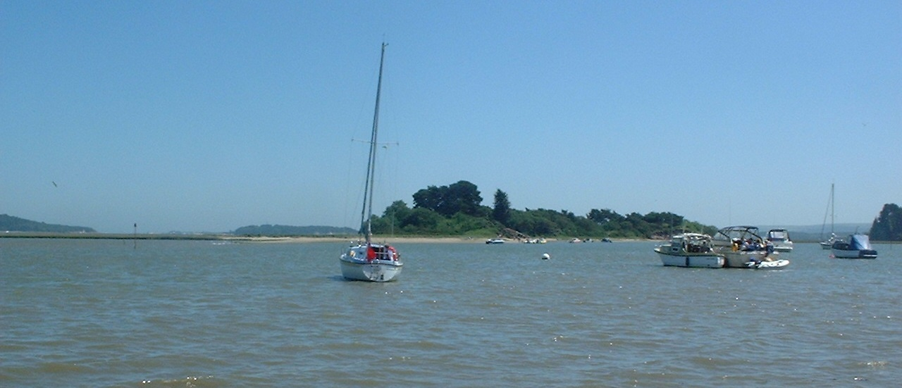 A view of Long Island from Shipstal Beach in June 2002.